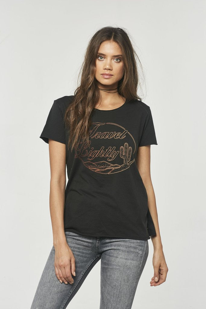 Project Social T Travel Lightly Tee | Black