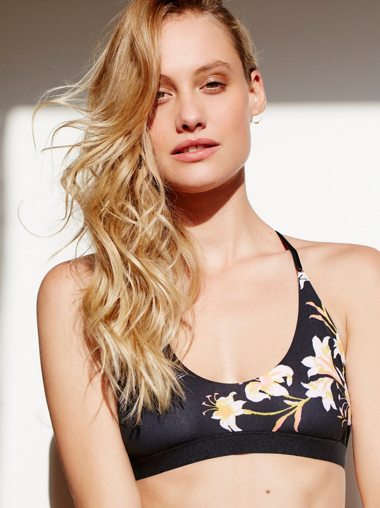 Free People Fiona Triangle Bra | Black Combo
