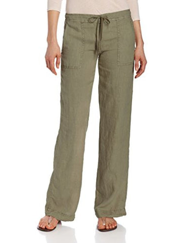 Michael Stars Solid Linen Drawstring Pant | Olive Moss