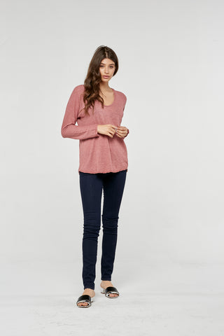 Project Social T Dawson Longsleeve Top | Velvet Blush