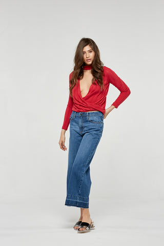 Project Social T Lacey Top | Parisian Red