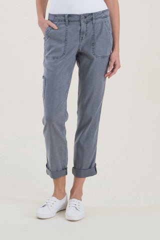 Level 99 Dayla Linen Cargo Pant | Concrete Jungle