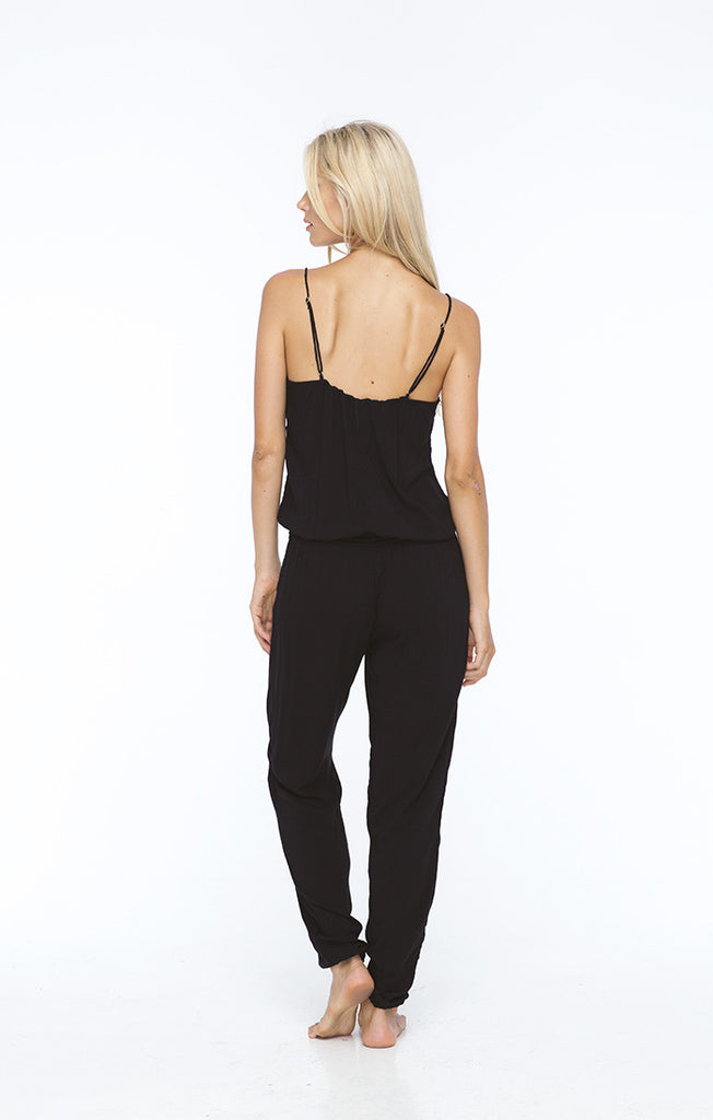 INDAH Judd Jumpsuit | White | Black