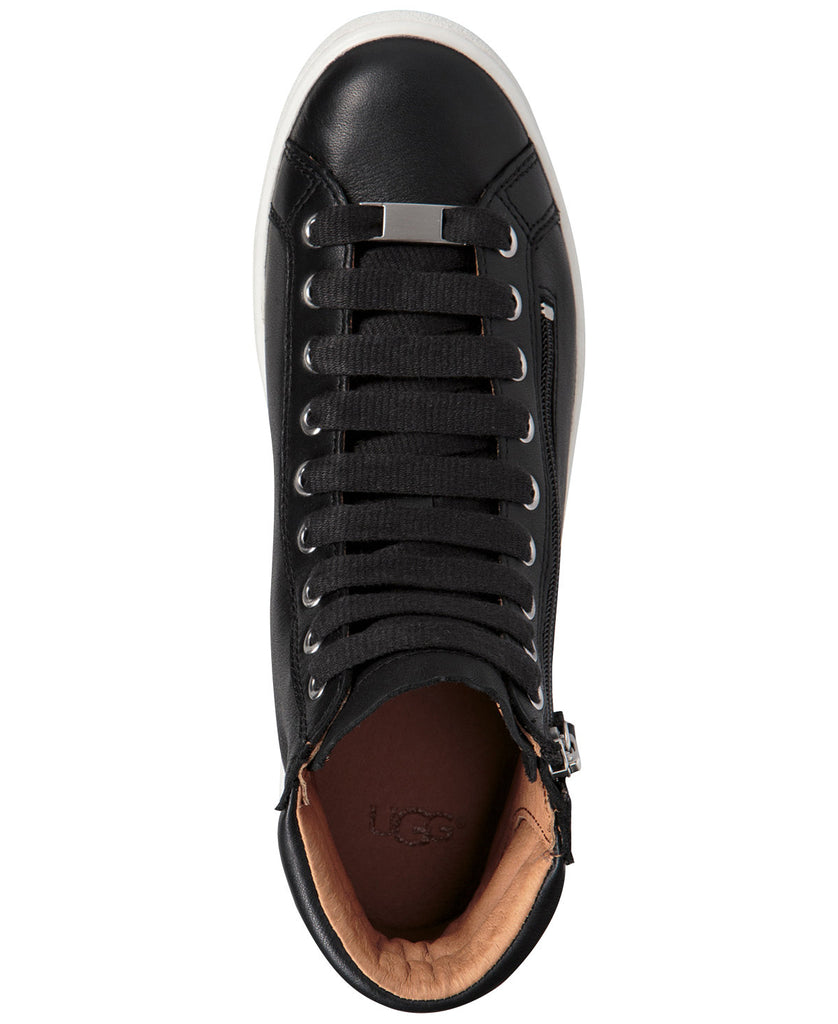 UGG Women's Olive High Top Leather Sneaker | Black