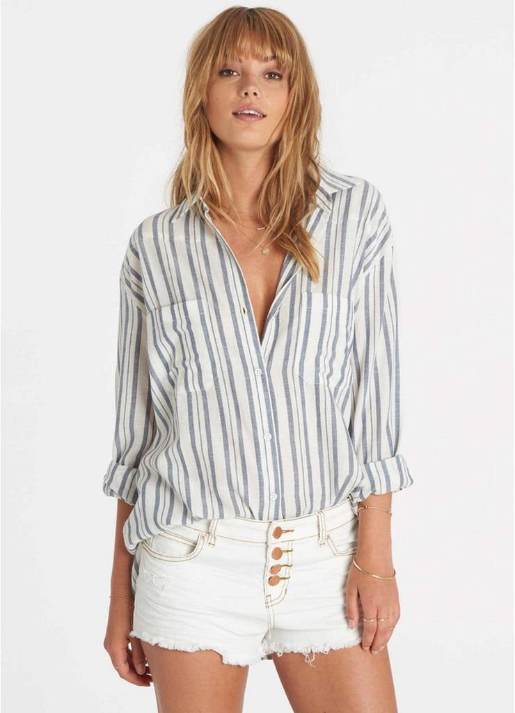 Billabong Easy Moves Stripe Buttondown Top | Capri