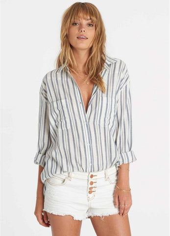 Billabong Women's Easy Moves Stripe Buttondown Top | Capri