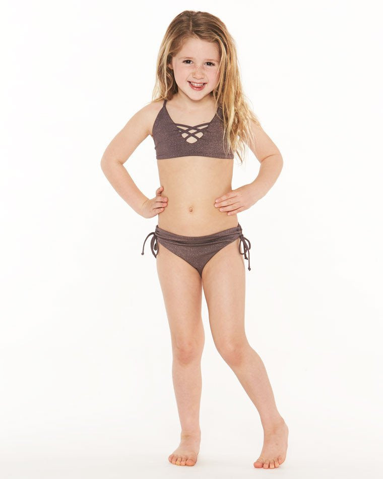 L*Space KIDS Little Shimmer Bikini | Pebble | SALE
