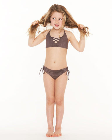 L*Space KIDS Little Shimmer Bikini | Pebble