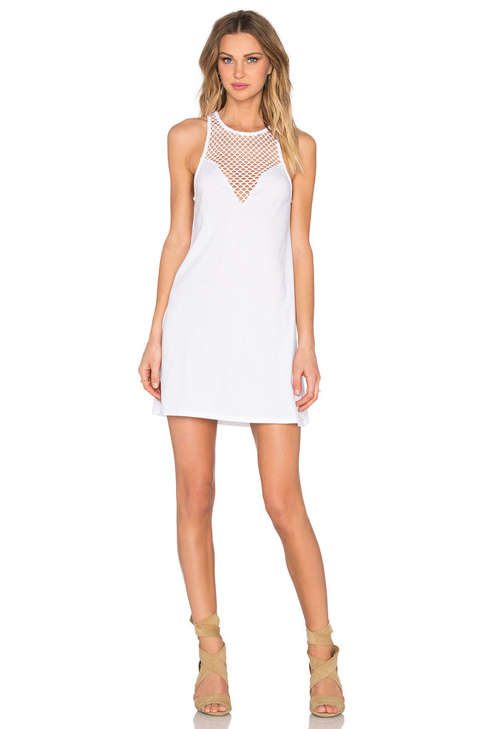 Bobi Pima Cotton Sweetheart Mini Dress