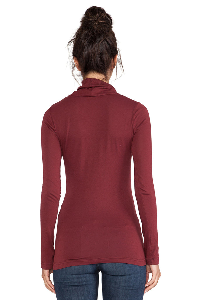 Bobi Long Sleeve Turtleneck | Malbec