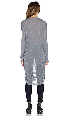 Bobi Long Sleeve Cowl Top | Mid Grey