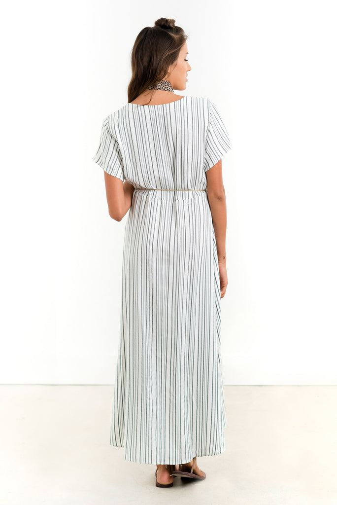 Saltwater Luxe Bombshell Maxi Dress | Black Stripe