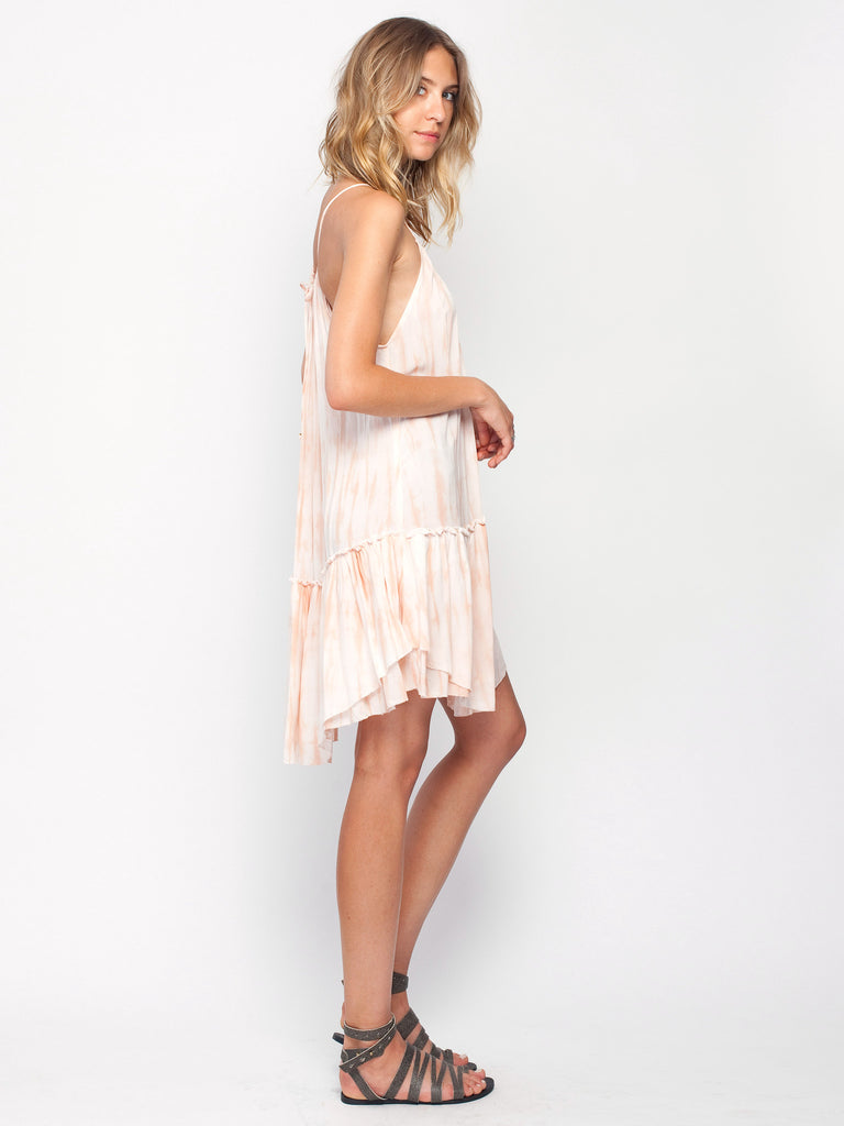 Gentle Fawn Crystal Dress | Papaya Tie & Dye Print