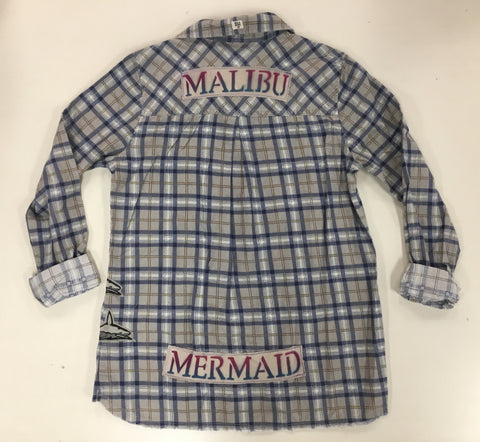 ONE OF A KIND Malibu Mermaid Patchwork Flannel (Billabong)