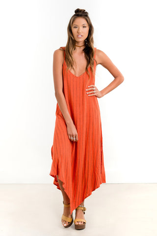 Saltwater Luxe Gold Coast Maxi | Hot Orange