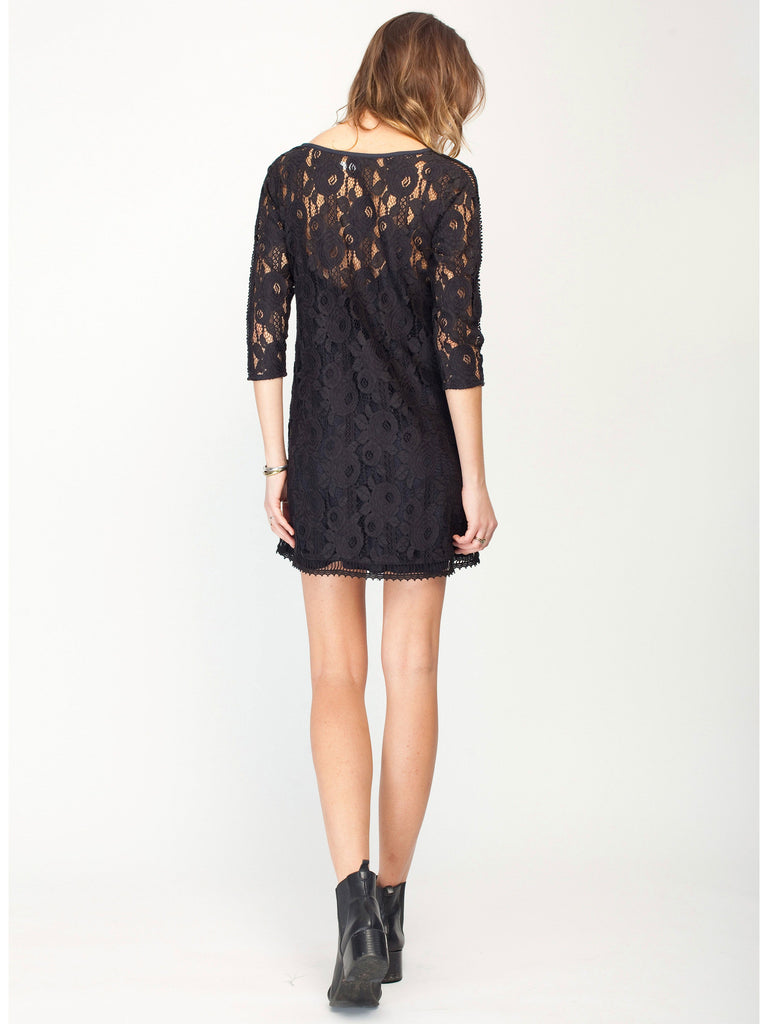 Gentle Fawn Hawk Lace Mini Dress | Black