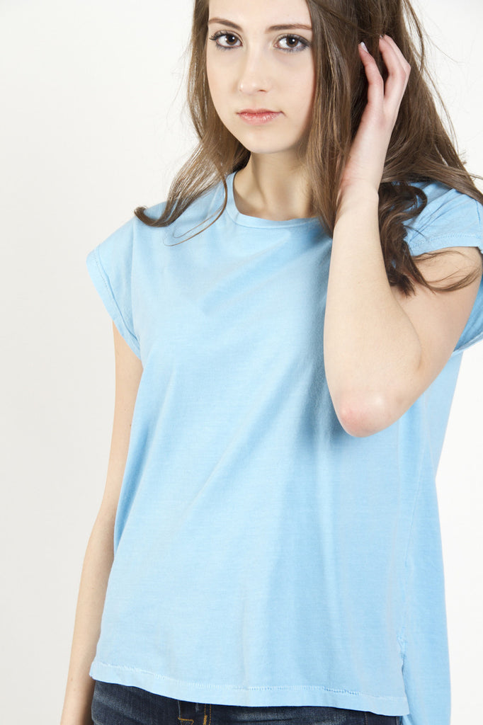 Nanavatee Crew Neck Muscle Tee | Mosaic Blue | SALE