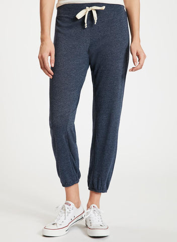 NATION LTD Medora Capri Sweatpants | Heather Grey | Midnight Blue