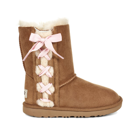 UGG Kids Pala Boot | Chestnut, Grey | SALE