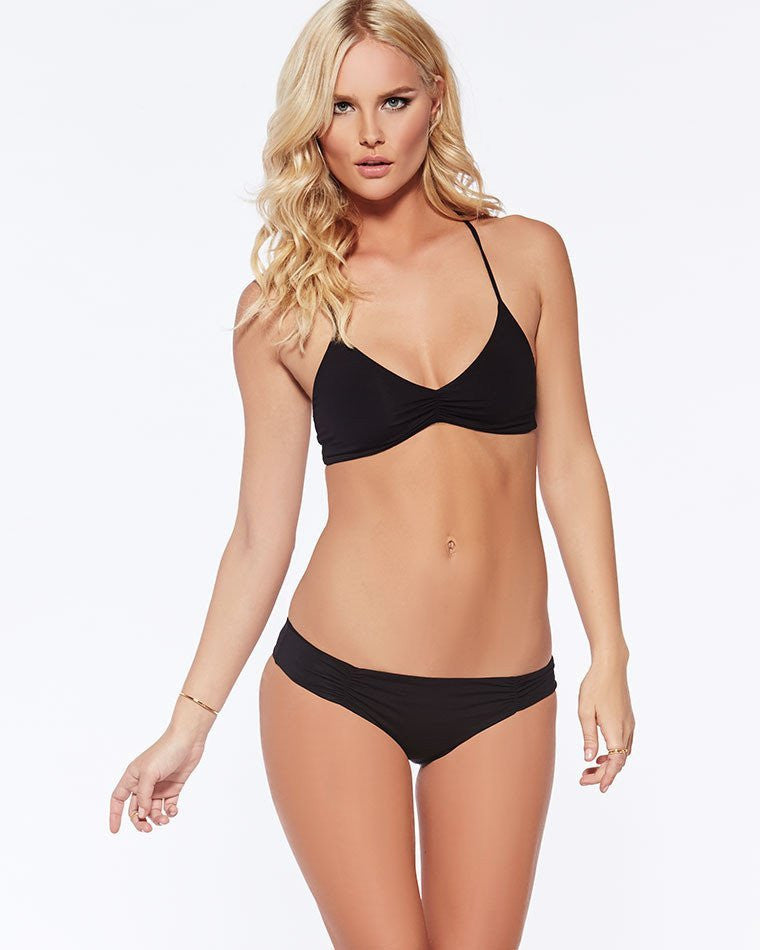 L*Space Monique Full Cut Bathing Suit Bottom | Black