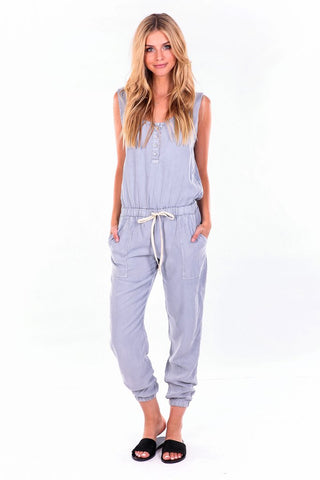 YFB On The Road Lynn Jumpsuit | Silver Blue