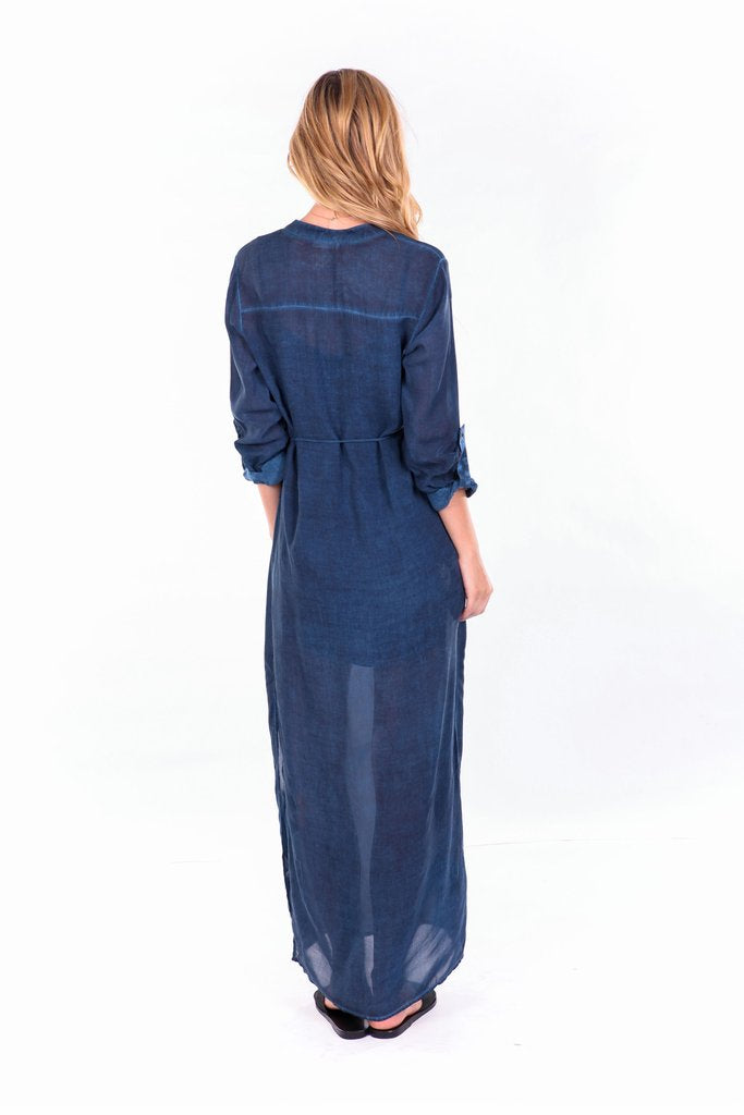 YFB On The Road Marie Maxi Beach Dress | Midnight Blue