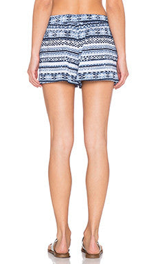 Michael Stars Printed High Waist Shorts | Indigo | SALE