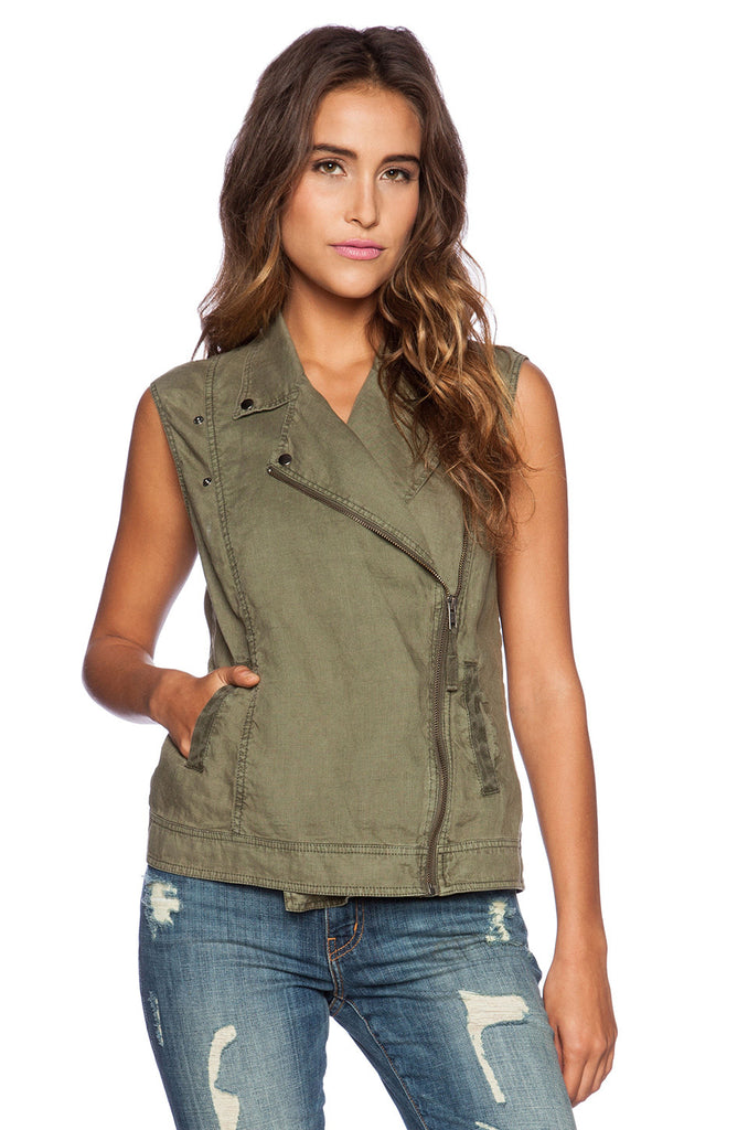 ONE OF A KIND Michael Stars Sleeveless Moto Vest  | Cargo | SALE