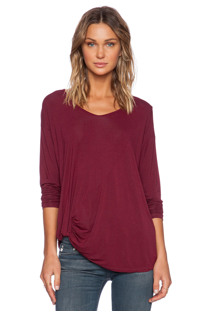 Michael Stars Long Sleeve Crew Neck Hi Low | SALE