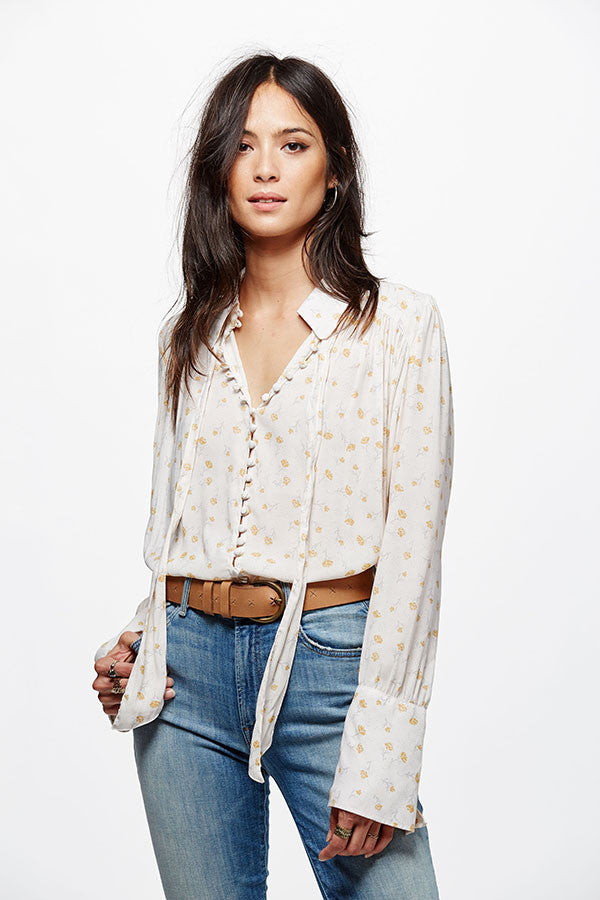 Free People Modern Muse Blouse | Ivory Combo