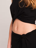 Press Knotted Skirt | Black