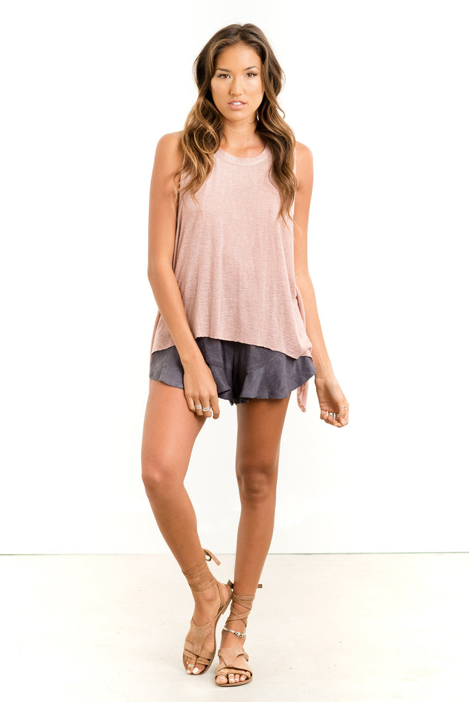 Saltwater Luxe Salty Air Tank | Rose, Sea Glass