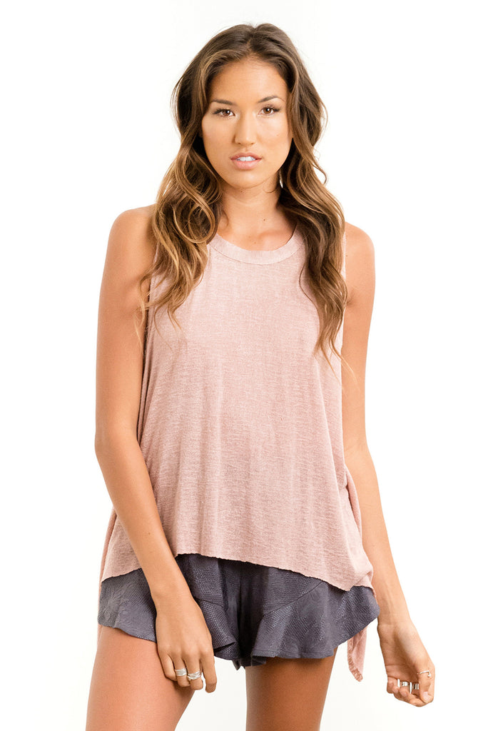 Saltwater Luxe Salty Air Tank | Rose | Sea Glass