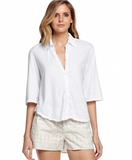 Michael Stars Button Up Cropped Dream Tees Shirt | Sale
