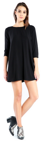 Michael Stars Rayon 3/4 Sleeve Mini Dress | SALE