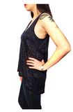 Nanavatee Leopard Scoop Neck Tank | True Navy Combo | SALE