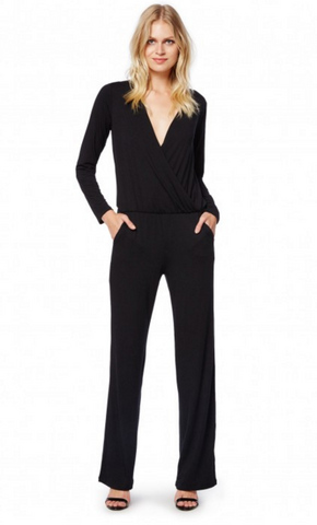Michael Stars Dana Jumpsuit | Black | SALE
