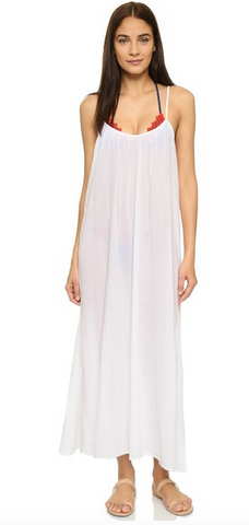 9 Seed Newport Maxi Dress w/ Ties | White