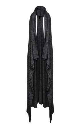 Bobi Bouncy Knit Duster Vest | Black