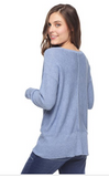Splendid Whitney Sweater Pullover | Chambray | Sale