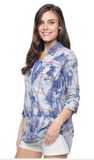 Splendid Casta Plaid Long Sleeve Shirting Top | Sunfade |SALE