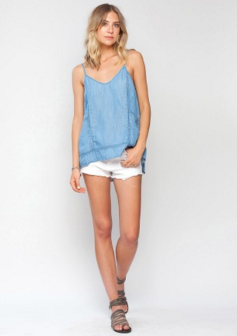 Gentle Fawn Iris Tank | Sky Blue Wash