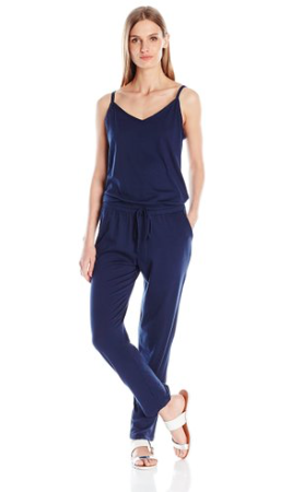 Michael Stars Women's Sleeveless V Neck Jumpsuit with Drawstring | Nocturnal