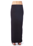 Michael Stars Cotton Lycra Maxi Skirt With High Slit