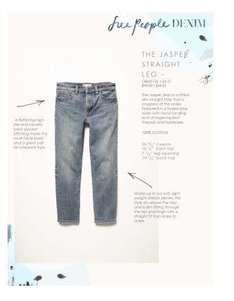 Free People Jasper Straight Leg Jeans | Harbor