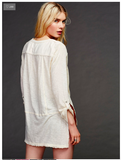 Free People Stargazer Henley | White