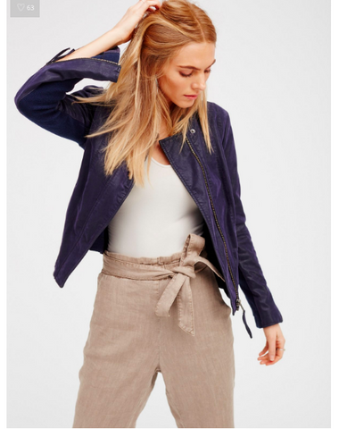 Free People Cool & Clean Vegan Jacket | Navy
