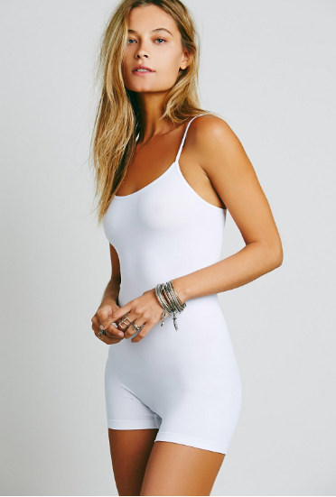 Free People Intimately Seamless Romper | Black & Ivory