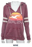 MALIBU SWEATS The Sunset Collection | Ocean Drive Super Soft Fleece & Burnout Fleece Sweatshirts Zip up and Pullover Hoodies
