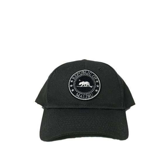 Republic of Malibu Baseball Cap by PCA | Black, Charcoal